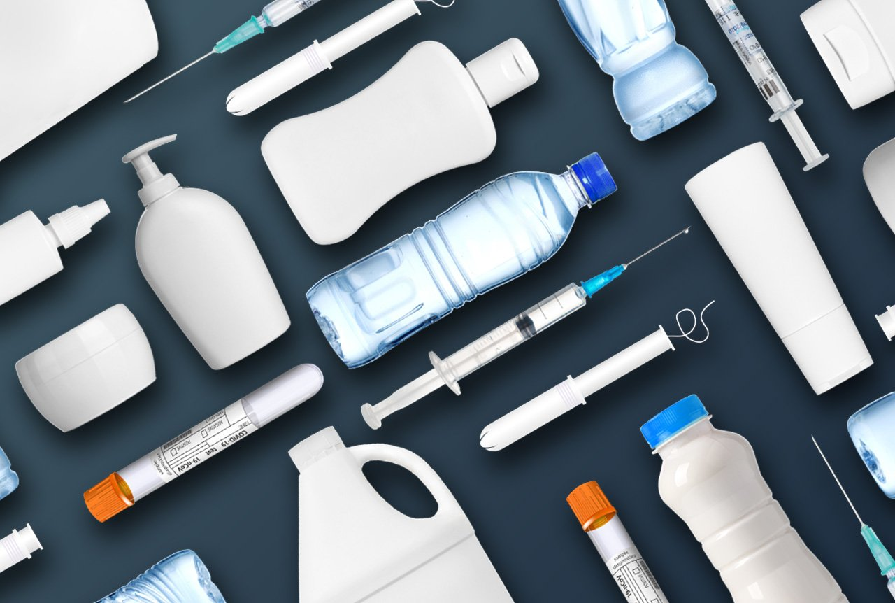 Finished plastic products from various markets Including medical, food and beverages, thin-wall packaging, closures, consumer goods, electronics, and more