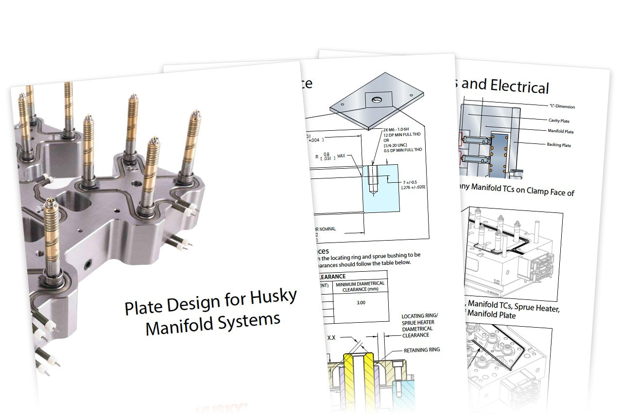 Husky Manifold Systems guide, CAD designs and system diagrams.